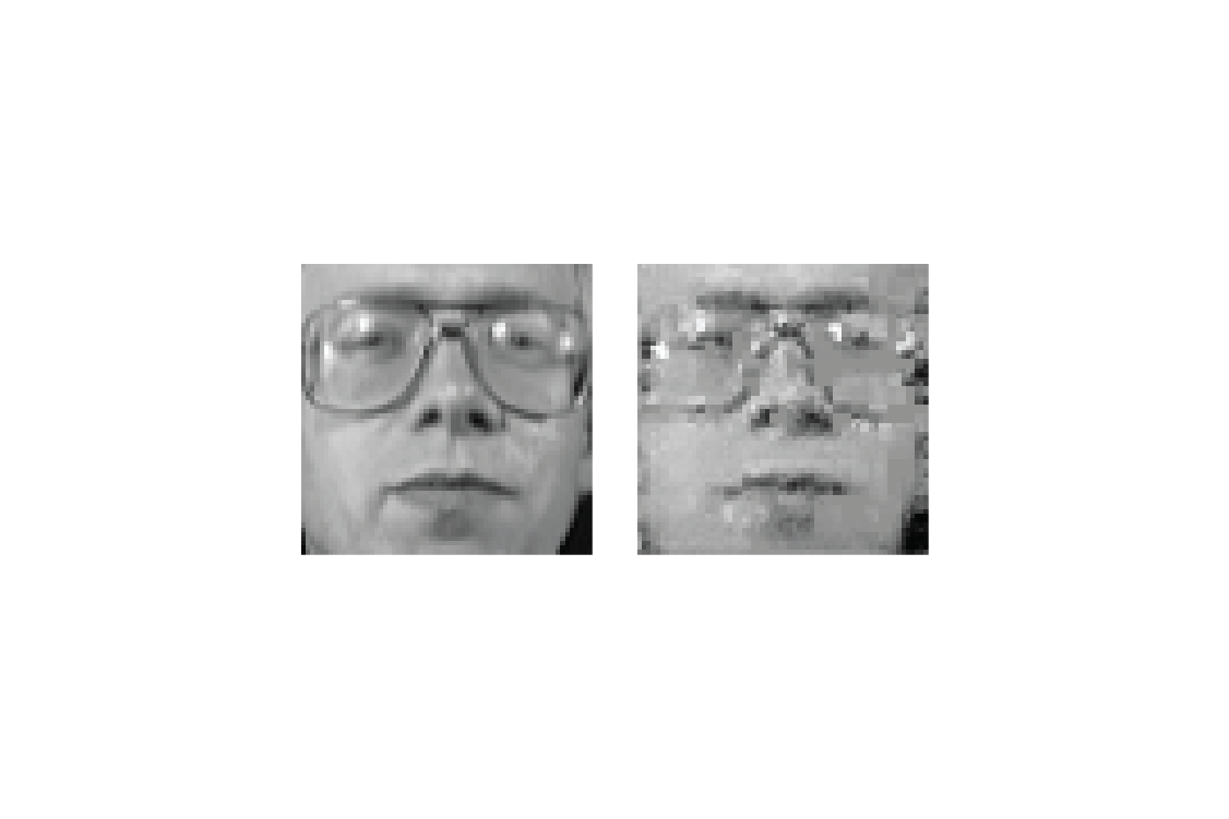 """Training data (left) can be reconstructed (right) by a malicious node (images taken from """"Deep Models Under the GAN: Information Leakage from Collaborative Deep Learning"""" by Briland Hitaj, Giuseppe Ateniese, and Fernando Perez-Cruz)."""